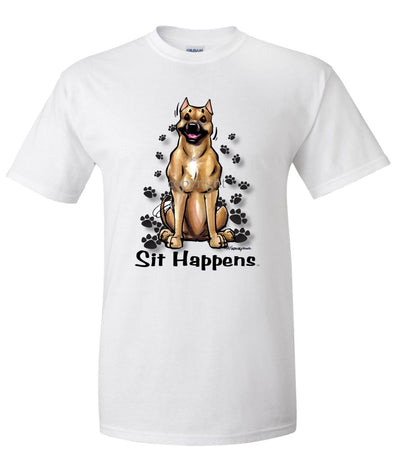American Staffordshire Terrier - Sit Happens - T-Shirt