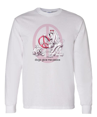 Maltese - Peace Dogs - Long Sleeve T-Shirt