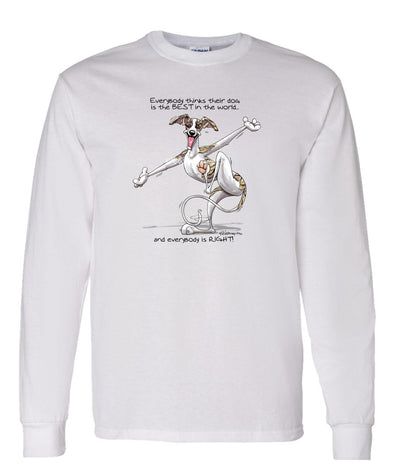 Whippet - Best Dog in the World - Long Sleeve T-Shirt