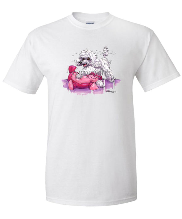 Poodle  Toy White - Caricature - T-Shirt