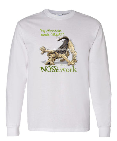 Airedale Terrier - Nosework - Long Sleeve T-Shirt