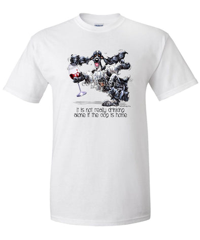 English Cocker Spaniel - It's Drinking Alone 2 - T-Shirt