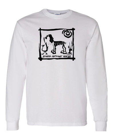 English Springer Spaniel - Cavern Canine - Long Sleeve T-Shirt