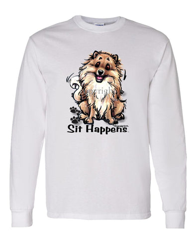 Pomeranian - Sit Happens - Long Sleeve T-Shirt