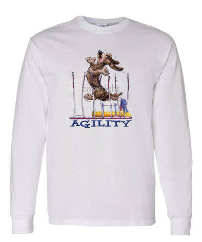 Dachshund  Wirehaired - Agility Weave II - Long Sleeve T-Shirt