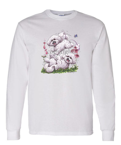Bichon Frise - Group Playing - Caricature - Long Sleeve T-Shirt