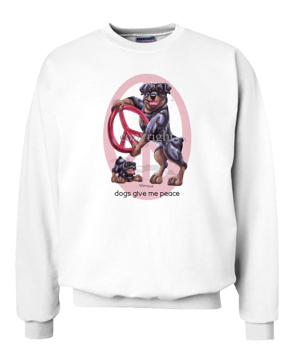 Rottweiler - Peace Dogs - Sweatshirt