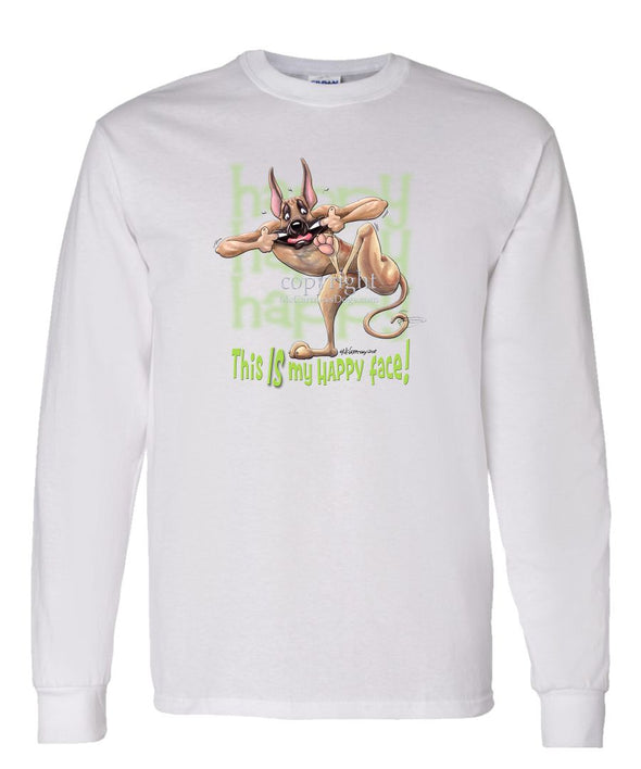 Great Dane - 2 - Who's A Happy Dog - Long Sleeve T-Shirt