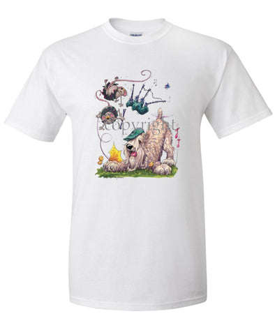 Soft Coated Wheaten - Bagpipes - Caricature - T-Shirt
