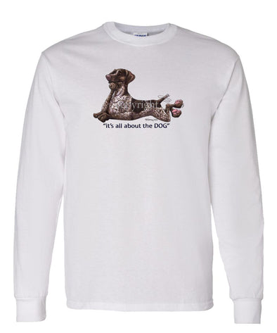German Shorthaired Pointer - All About The Dog - Long Sleeve T-Shirt
