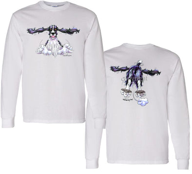 English Springer Spaniel - Coming and Going - Long Sleeve T-Shirt (Double Sided)
