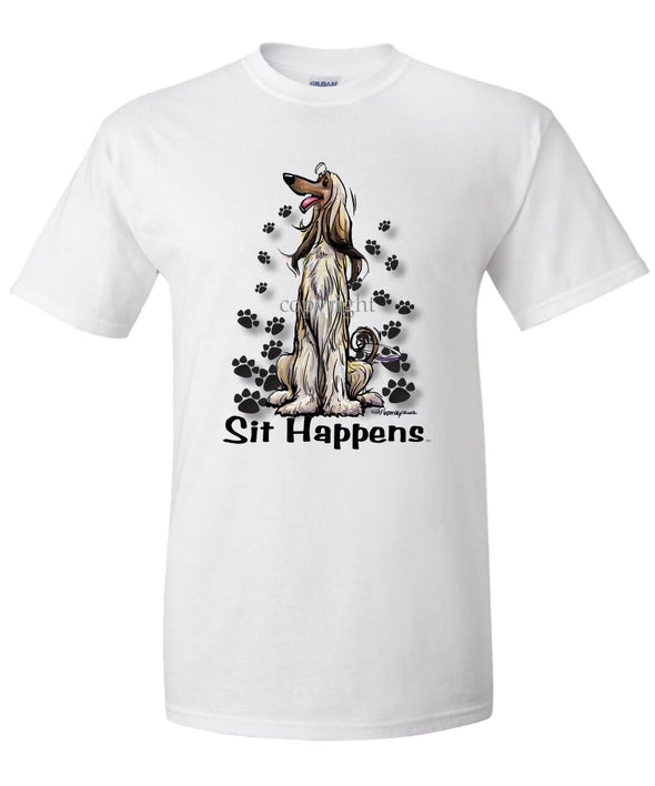 Afghan Hound - Sit Happens - T-Shirt