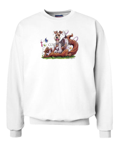 Wire Fox Terrier - Tickling Fox - Caricature - Sweatshirt