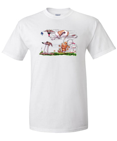 Whippet - Running Over Rabbit - Caricature - T-Shirt