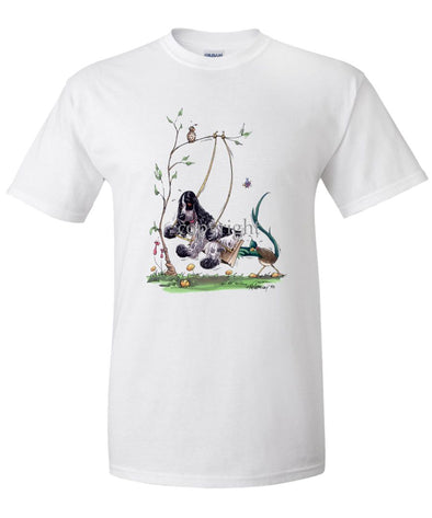 English Cocker Spaniel - Swing - Caricature - T-Shirt