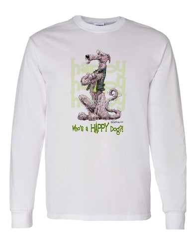 Irish Wolfhound - Who's A Happy Dog - Long Sleeve T-Shirt