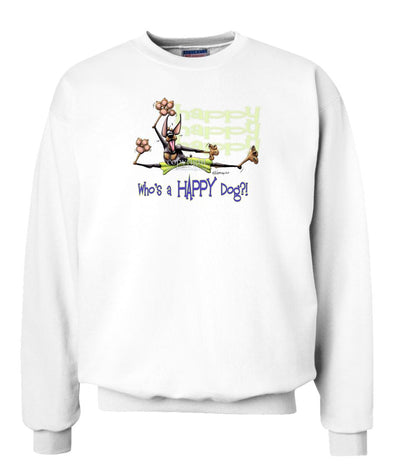 Doberman Pinscher - Who's A Happy Dog - Sweatshirt