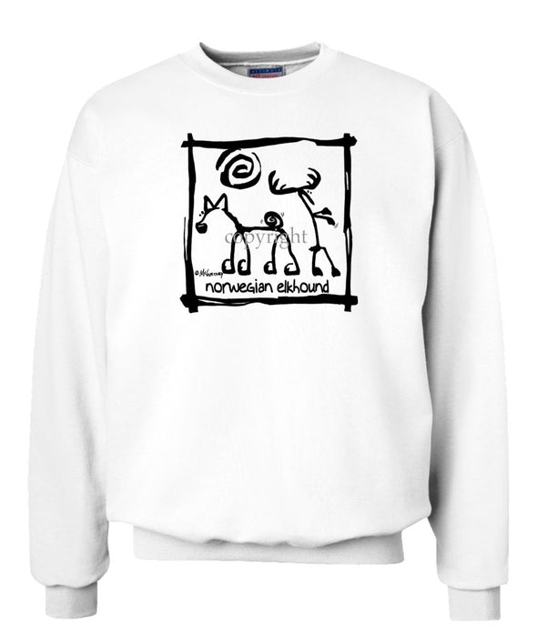 Norwegian Elkhound - Cavern Canine - Sweatshirt