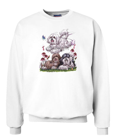 Havanese - Group - Caricature - Sweatshirt