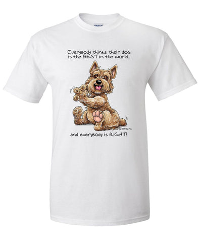 Norwich Terrier - Best Dog in the World - T-Shirt