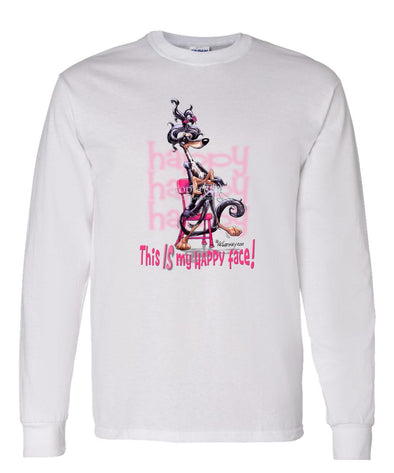 Saluki - Who's A Happy Dog - Long Sleeve T-Shirt