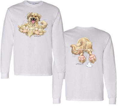 Golden Retriever - Coming and Going - Long Sleeve T-Shirt (Double Sided)