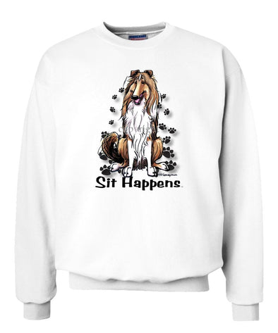 Collie - Sit Happens - Sweatshirt