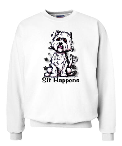 West Highland Terrier - Sit Happens - Sweatshirt