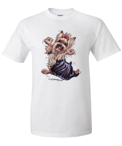 Yorkshire Terrier - Happy Dog - T-Shirt