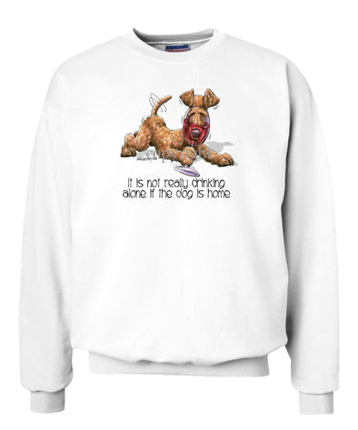 Irish Terrier - It's Not Drinking Alone - Sweatshirt
