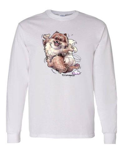 Pomeranian - Happy Dog - Long Sleeve T-Shirt