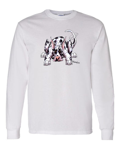 Great Dane  Harlequin - Rug Dog - Long Sleeve T-Shirt