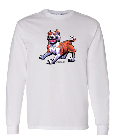 American Staffordshire Terrier - Cool Dog - Long Sleeve T-Shirt