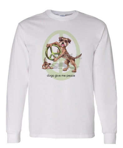 Border Terrier - Peace Dogs - Long Sleeve T-Shirt