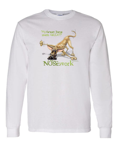 Great Dane - Nosework - Long Sleeve T-Shirt