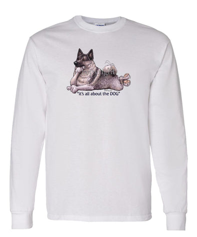 Norwegian Elkhound - All About The Dog - Long Sleeve T-Shirt