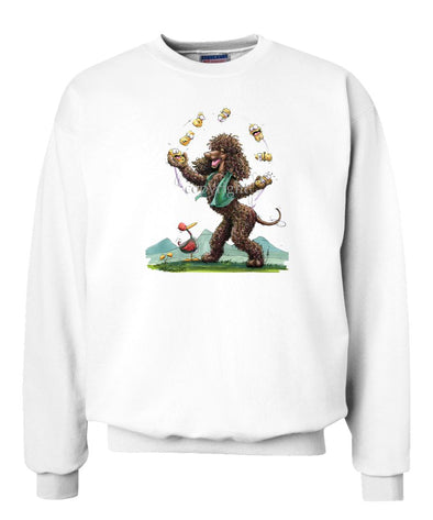 Irish Water Spaniel - Juggling Potatoes - Caricature - Sweatshirt