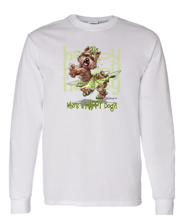 Norwich Terrier - Who's A Happy Dog - Long Sleeve T-Shirt