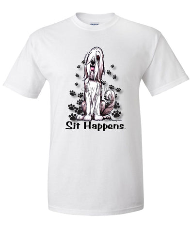 Bearded Collie - Sit Happens - T-Shirt