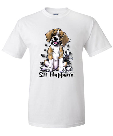 Beagle - Sit Happens - T-Shirt