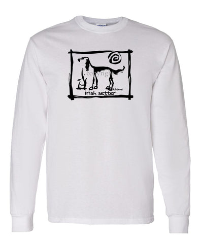 Irish Setter - Cavern Canine - Long Sleeve T-Shirt