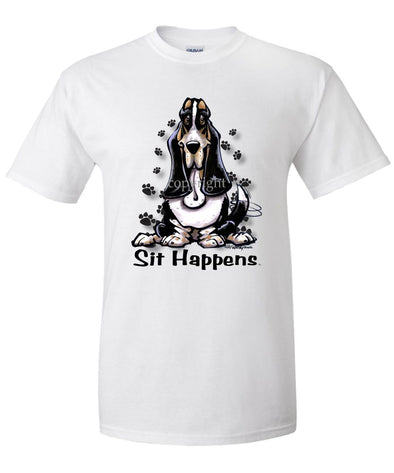Basset Hound - Sit Happens - T-Shirt