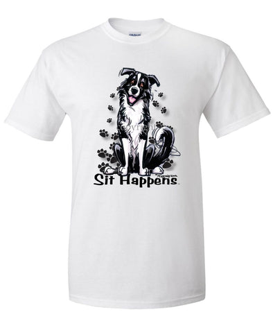 Border Collie - Sit Happens - T-Shirt