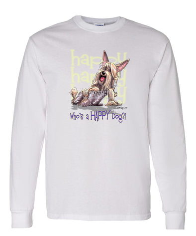 Silky Terrier - Who's A Happy Dog - Long Sleeve T-Shirt