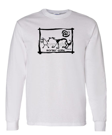 Border Collie - Cavern Canine - Long Sleeve T-Shirt