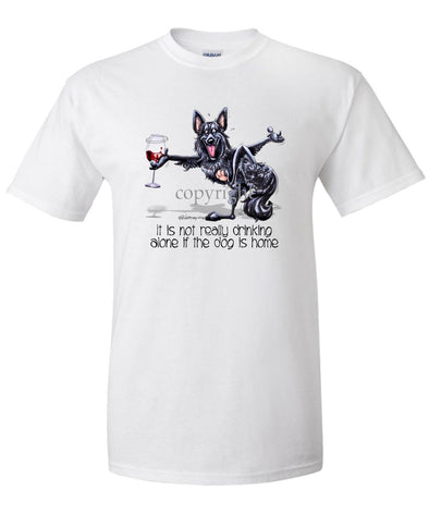 Belgian Sheepdog - It's Drinking Alone 2 - T-Shirt