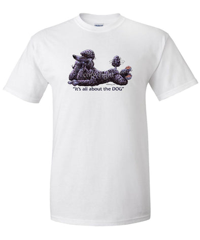 Poodle  Black - All About The Dog - T-Shirt