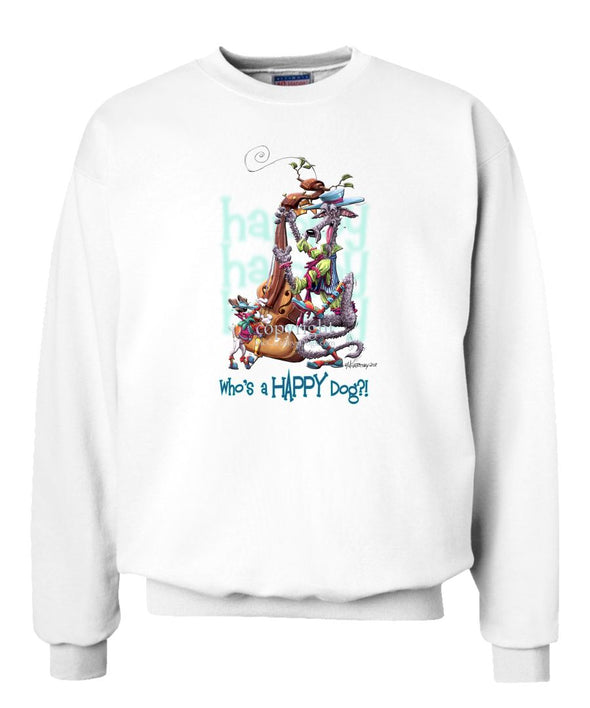 Scottish Deerhound - Who's A Happy Dog - Sweatshirt