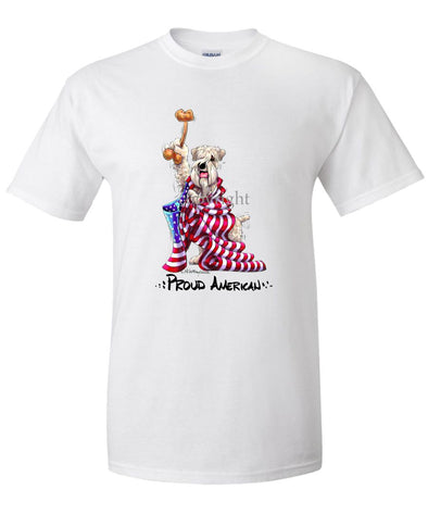 Soft Coated Wheaten - Proud American - T-Shirt
