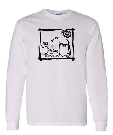Smooth Fox Terrier - Cavern Canine - Long Sleeve T-Shirt